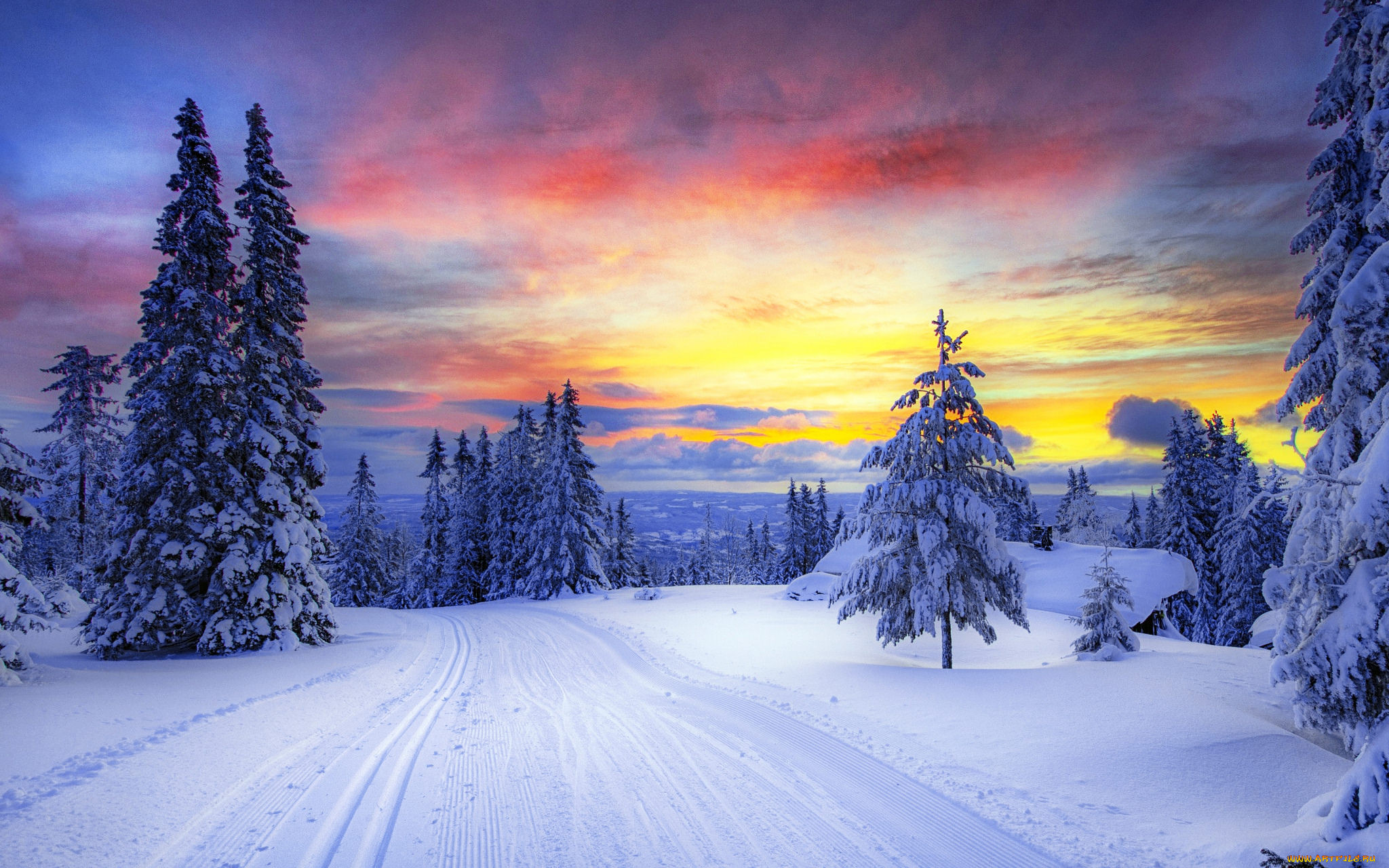 Очень красивые картинки сказочная зима